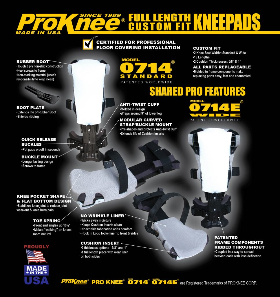 prokee 0714 knee pad replacement parts