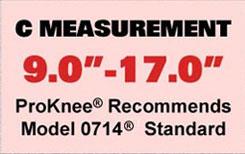 ProKnee 0714 C measurement