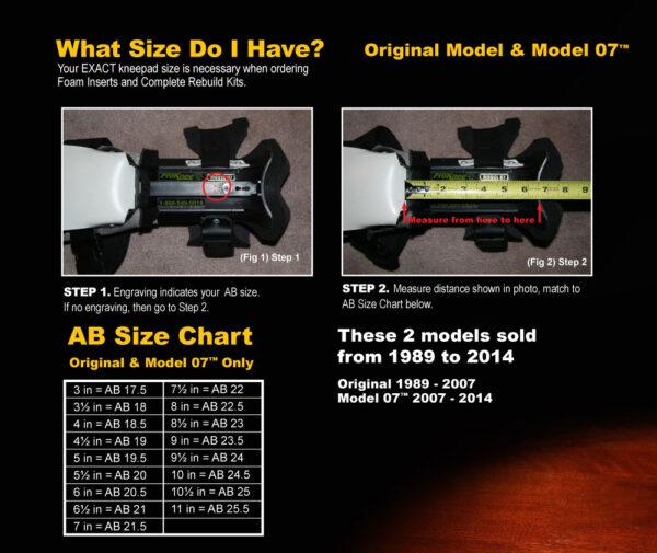 ProKnee Model 07 Sizing Chart
