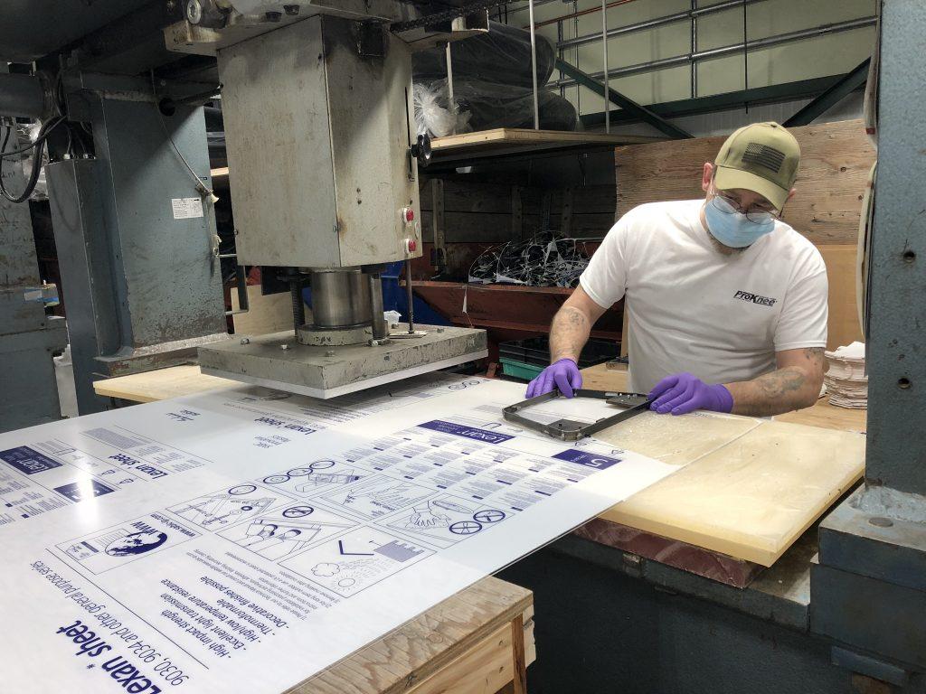 ProKnee COIVD-19 Face Shield Manufacturing