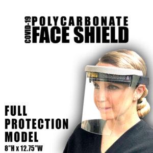 COVID-19 Polycarbonate Face Shield