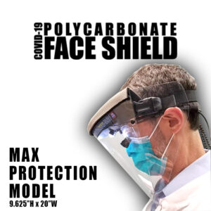 Max Protection Polycarbonate Face Shield